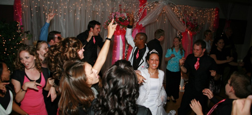 Is that a huge smile on the Brides face? =)