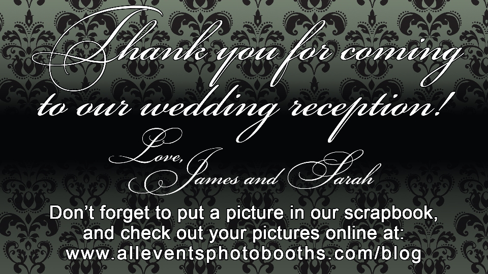 Custom Screen for Wedding Photo Booth