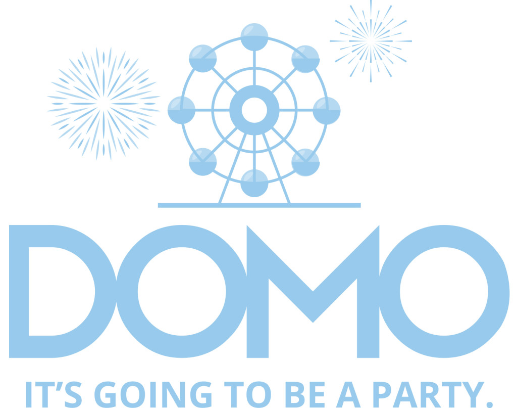 Domo logo for photo booth event